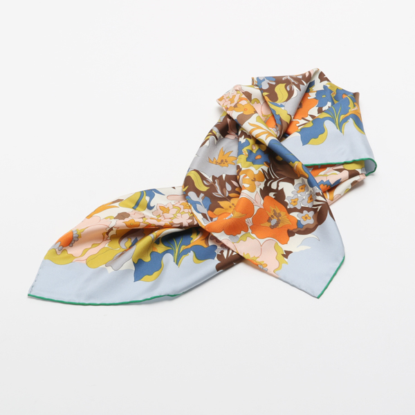 MANTERO SILK TWILL SCARF 2 ORANGE