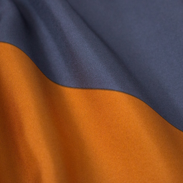 MANTERO SILK TWILL SCARF 4 ORANGE