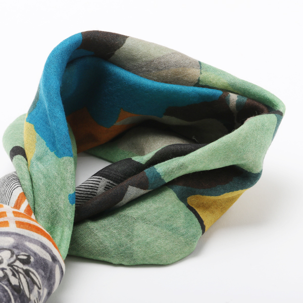 MANTERO WOOL SCARF 3 GREY