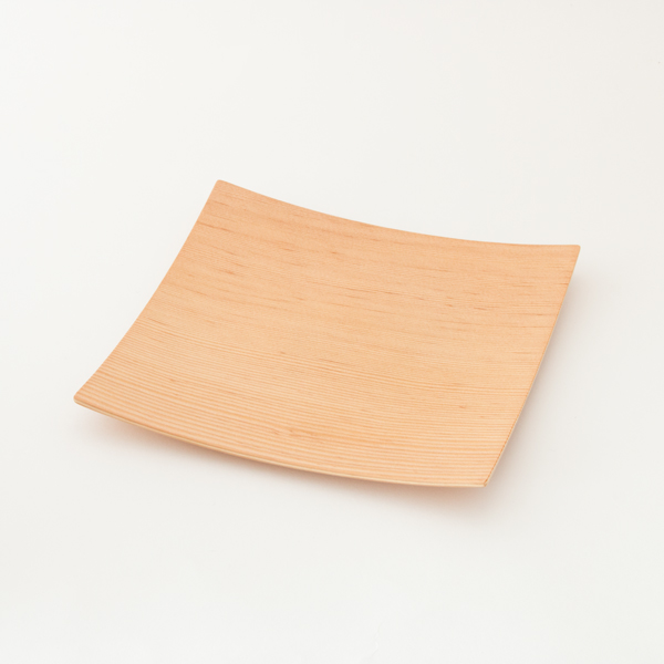 WOOD PLATE SQUARE M