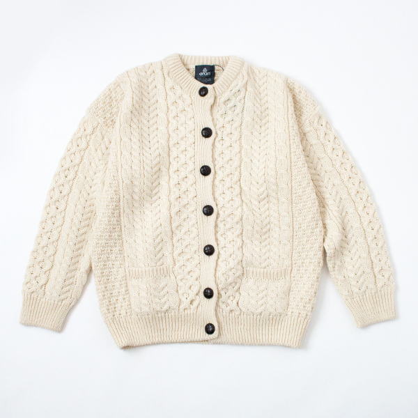 MERINO WOOL CABLE KNIT CARDIGAN