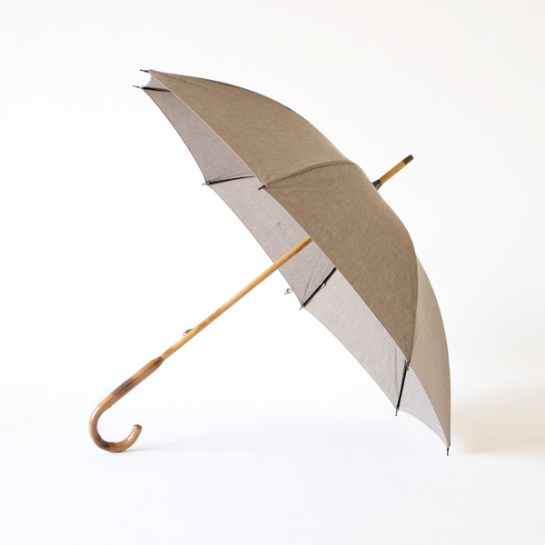 LADIES ALL-WEATHER LONG UMBRELLA COTTON LINEN