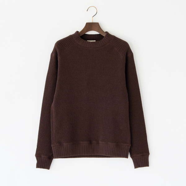 UNISEX WAFFLE MIDNECK GROUND BROWN