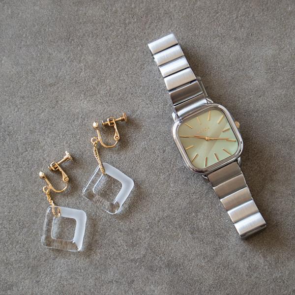 腕時計限定セット BREDA×HARIO Lampwork Factory ESTHER(ピアス)