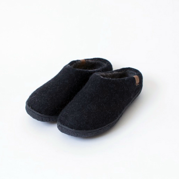 WOOL COMFORT SHOES 7281-RUB-W BLACK
