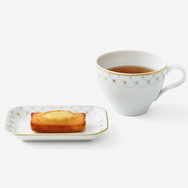 フィナンシェと紅茶の器(七宝)