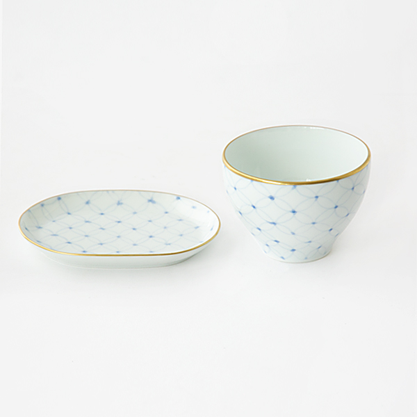 SOUP CUP AND BAGUETTE PLATE