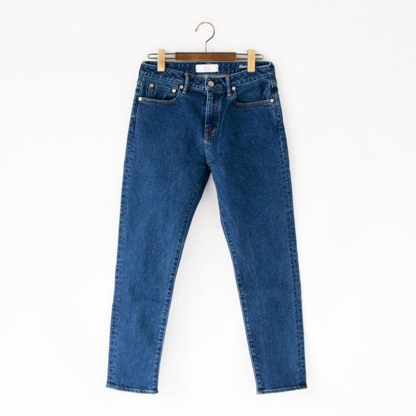 Nadia UP139103 high tapered denim pants BLU