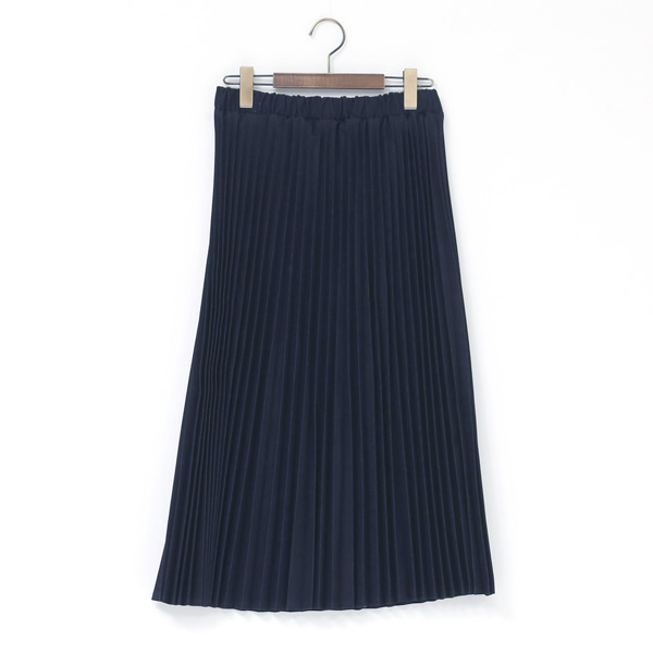 UK138201 denim pleated skirt IND