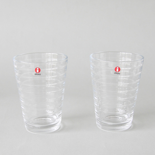 Aino Aalto highball glass pair set clear