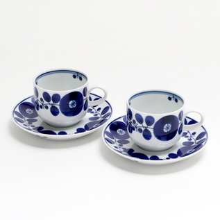 A PAIR OF BLOOM COFFEE CUP AND SAUCER