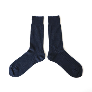 WOMEN LINEN SOCKS SHORT NAVY
