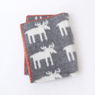 Mini blanket moose dark gray
