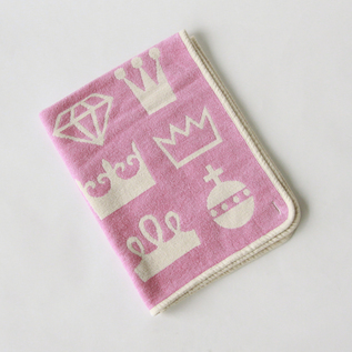 Mini chenille blanket Royal