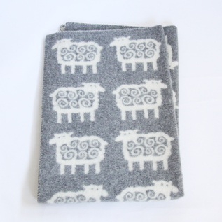 HALF SIZED BLANKET SHEEP GREY