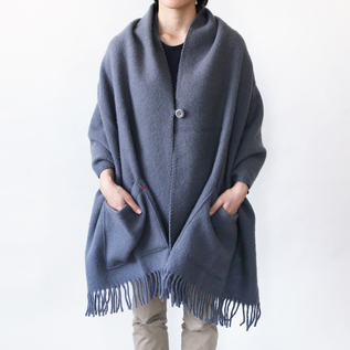 WOOL SCARF BASIC WOOL ELEGANT GREY