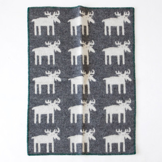 WOOL MINI BLANKET MOOSE