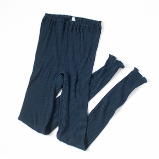 BESPOKE RIBBED LONG PANTS LOGWOOD NAVY
