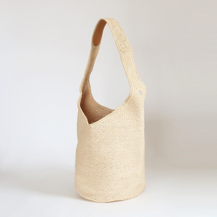 CARILLO NATURAL RAFFIA BAG