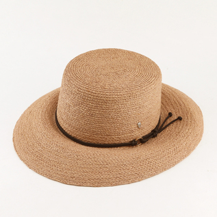 Straw Hat Willa Frappe  Frappe Black