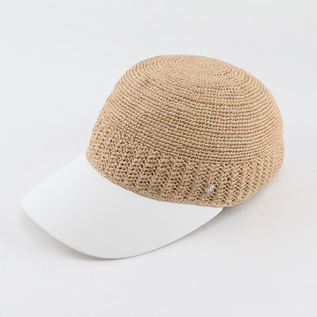 Straw Hat Vivian Natural White