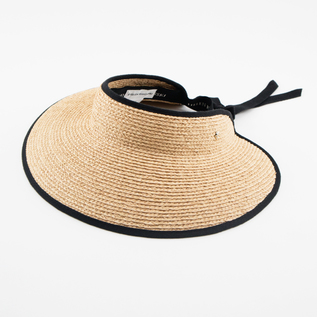 RAFFIA VISOR MITA NATURAL MIDNIGHT