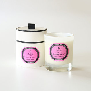 Aromatherapy candles rosemary and bergamot