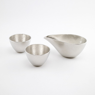 TIN KATAKUCHI AND GUINOMI SAKE WARE SET