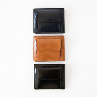 CORDOVAN BILLFORD WALLET WITH COIN PURSE