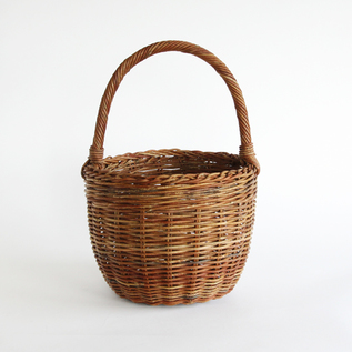 BESPOKE AKEBIA ROUND BASKET BAG WITH ONE HANDLE