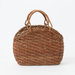 AKEBIA BASKET BAG OF RISING BODY WITH WRAPPED HANDLES