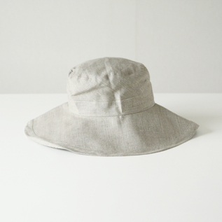 Low Jeu linen hat Natural