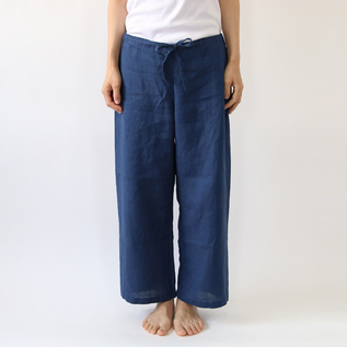Bespoke fog linen pants three-quarter length