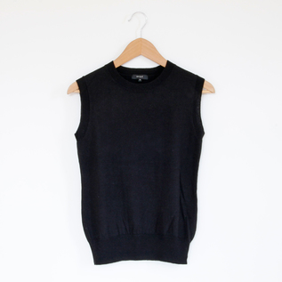 Women basic shell sweater Black