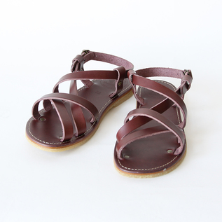 Leather strap sandals Bordeaux