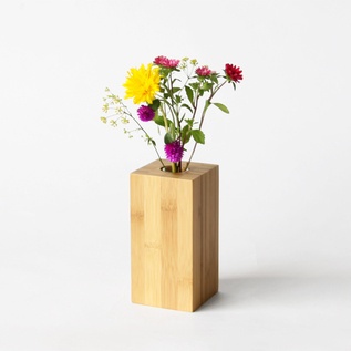 Bamboo flower vase for one flower