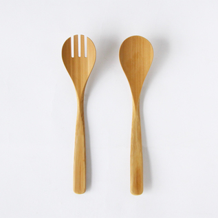 Salad spoon and salad fork set