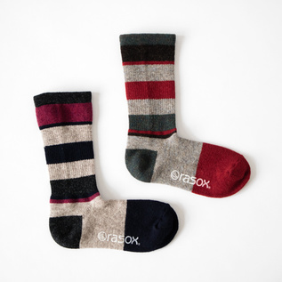Women Multi-border Wool Crew socks
