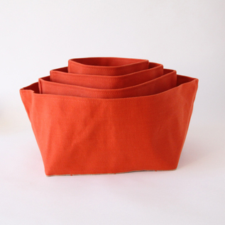 Monoire Safflower cotton canvas box