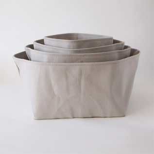 Monoire Grey cotton canvas box