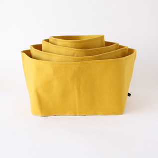 Monoire Mustard cotton canvas box