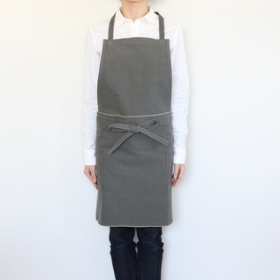 Long apron cotton canvas