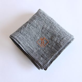 Color embroidered handkerchief
