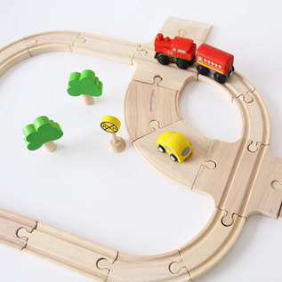 Wooden Toy Road and Rail Set Standard