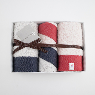 Herringbone Face guest towel set
