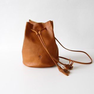 Drawstring shoulder Cuoio