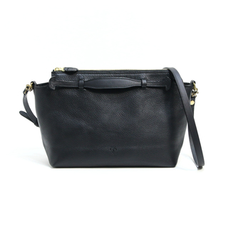 2WAY  LEATHER BAG BLACK