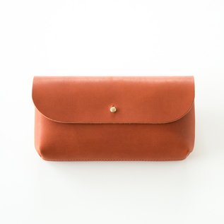 GLOVE LEATHER  FLAP POUCH L
