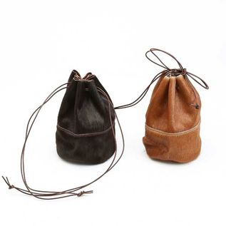 HORSE FUR DRAW STRINGS POUCH/S(巾着ショルダー)