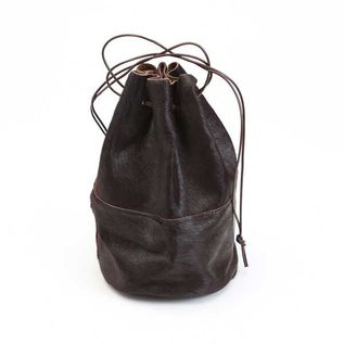 HORSE FUR DRAW STRINGS POUCH